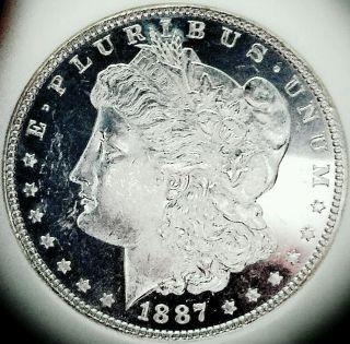1887 P Morgan Dollar Cameo Ultra Dmpl Gem Bu Unc Absolute Monster Dmpl photo