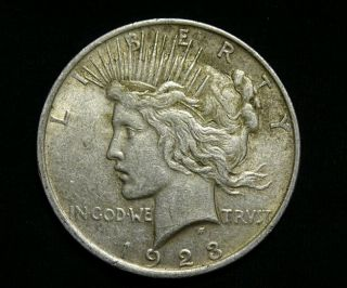 1923 Peace Silver Dollar Coin photo