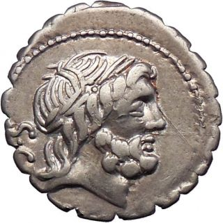 Roman Republic 83bc Ancient Silver Coin Of Rome Jupiter Victory Chariot I28430 photo