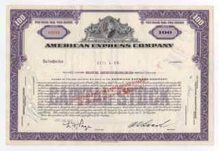 American Express Company Stock Certificate photo