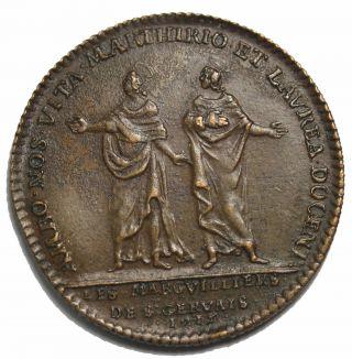 1715 Monsiuer D ' Argenson Copper French Jeton Token F.  4197 photo