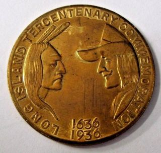 1936 Long Island Commemorative Tercentenary Token Hk 694 So Called Dollar photo