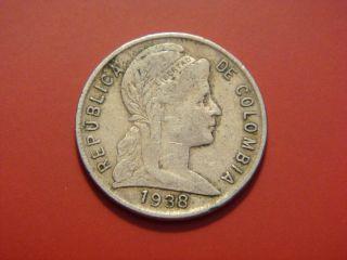 Colombia 5 Centavos,  1938 photo