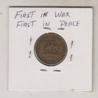 1863 Civil War Token - Union For Ever - First In War First In Peace photo