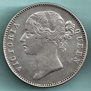 British India - 1840 - Victoria Queen - Divided Legend - One Rupee - Rarest photo