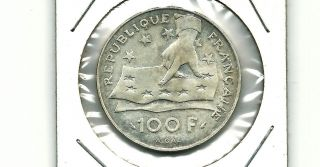 France 1991 100 Francs Silver Unc Coin Km 996 photo