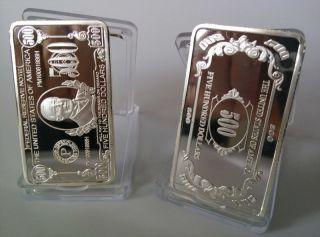 U.  S.  A 500 Dollars Silver Plated Coin/ Bar - Souvenir Craft 1pcs photo