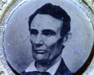 1860 Abraham Lincoln / Hannibal Hamlin Ferrotype Campaign 25mm Medal - Rare photo