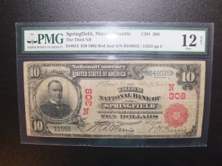 Rare 1902 $10 Mckinley Red Seal The Third Nb Of Springfield Massachusetts photo