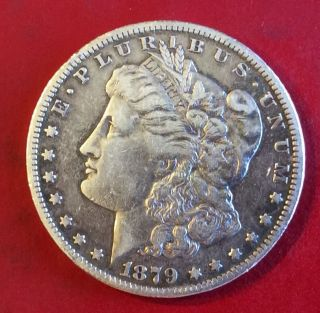 1879 Cc Morgan Silver Dollar F,  - Vg photo