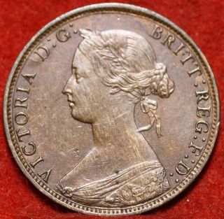 1861 Nova Scotia One Cent Foreign Coin S/h photo