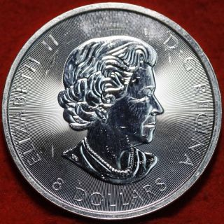 Uncirculated 2016 Canada $8 Silver 1 1/4 Round Foreign Coin S/h photo