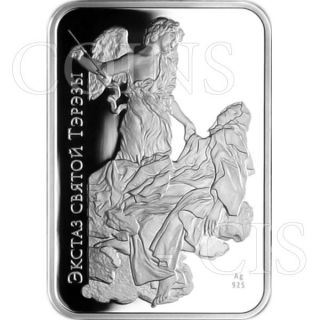 Belarus 2010 20 Rubles Ecstasy Of Saint Theresa World Of Sculpture Proof Ag Coin photo