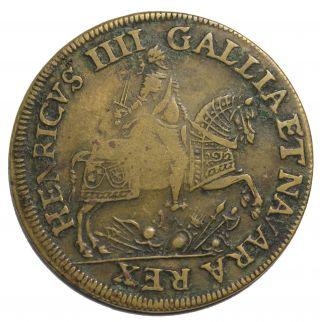 1600 ' S Henri Iv The Grand Nuremberg Germany German Jeton Token F.  11851 photo