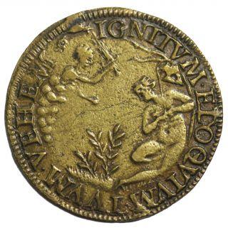 Ca.  1580 Henri Iii France French Jeton Token F.  11818 photo