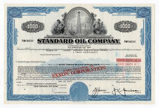 Standard Oil Company Bond W/oil Rig Vignette photo