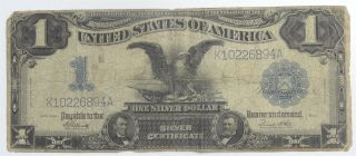 Black Eagle 1899 Silver Certificate Decent With Folds And A Pin Hole photo
