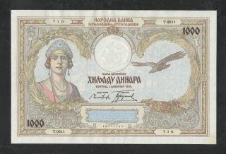 Yugoslavia 1000 Dinara 1.  12.  1931 Unc P29 photo