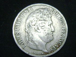 1831 A 5 Francs France Silver Foreign Coin Uncertified photo