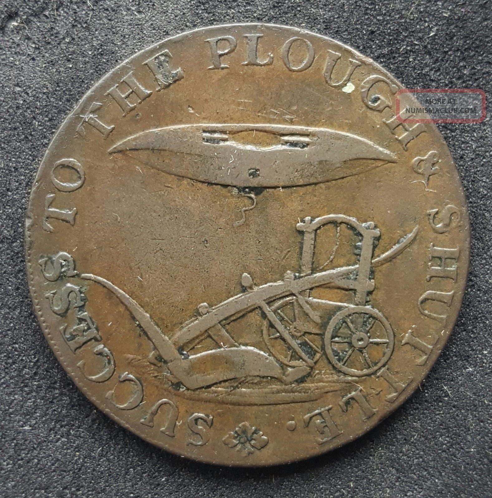 1794 Great Britain Norfolk Norwich Half Penny Conder Token D&h 19 UK (Great Britain) photo