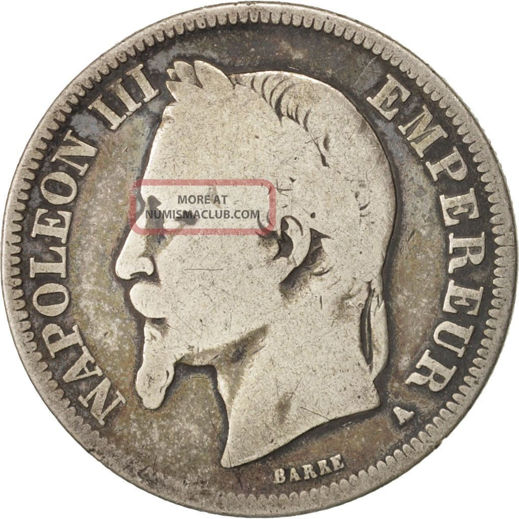 [ 414732] France,  Napoleon Iii,  Napoléon Iii,  2 Francs,  1869,  Paris,  Silver France photo