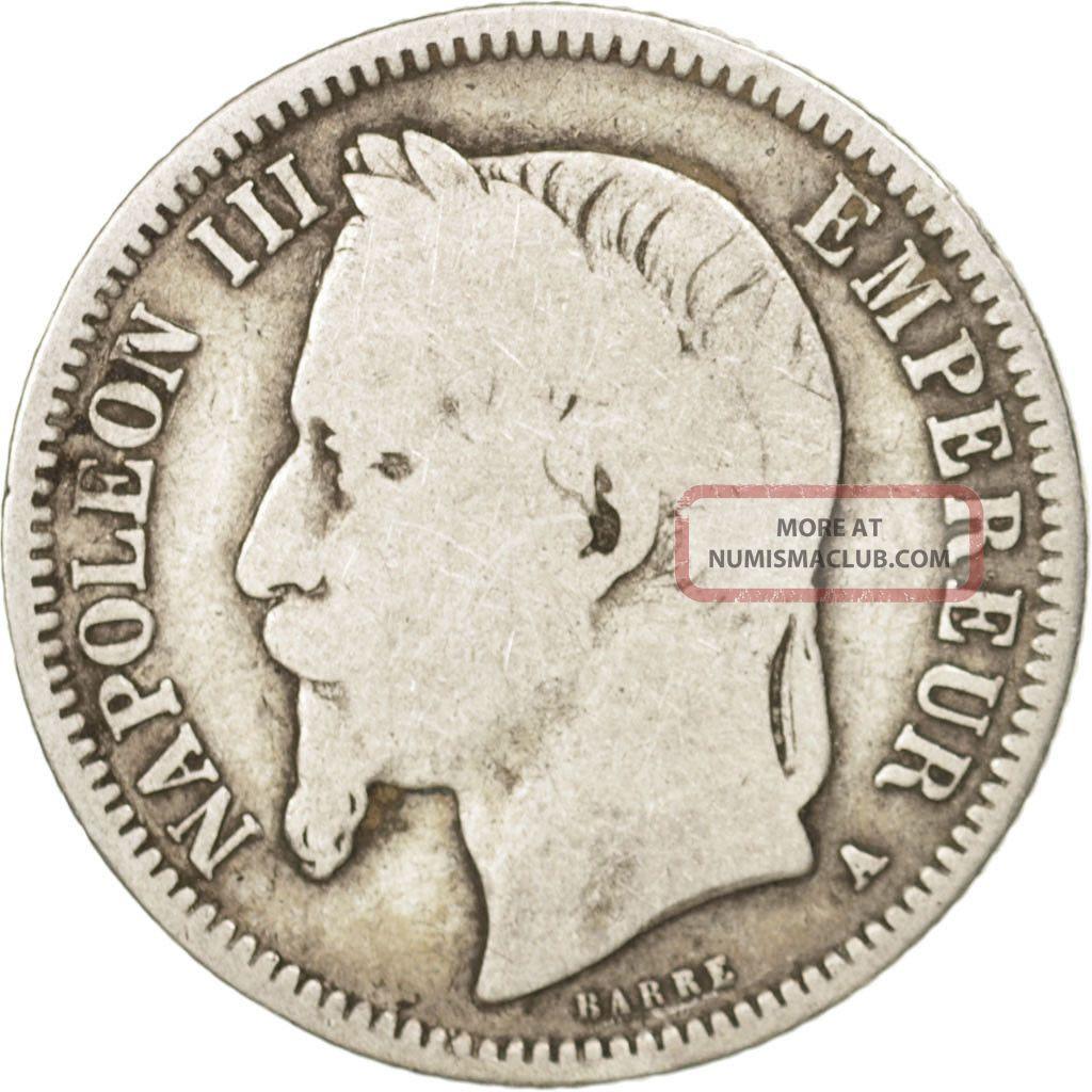 [ 411037] France,  Napoleon Iii,  Napoléon Iii,  Franc,  1868,  Paris,  Silver Europe photo