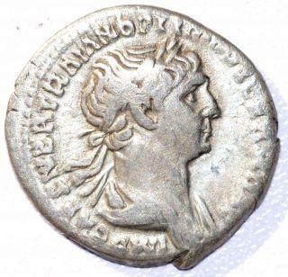 Rare Authentic Trajan (ad 98 - 117),  Ar Silver Denarius,  Rv.  Felicitas - C232 photo