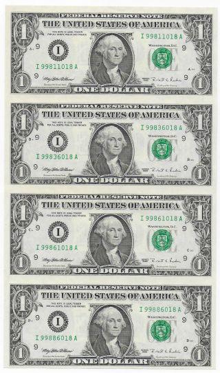 Uncut Us 1 Dollar 1995 Gem Unc photo
