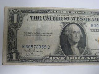 1$ U.  S.  Yellow Seal Bank Note,  1935 Emergency War Note photo
