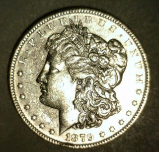 1879 Morgan Silver Dollar About Uncirculated Looking Coin photo