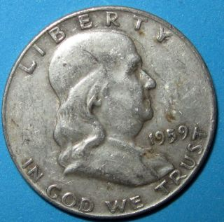 1959 Franklin 90 Silver Half Dollar - Low Combined photo
