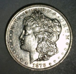 1878 S Morgan Silver Dollar Au First Year Looking Coin photo