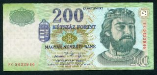 Hungary 200 Forint 2006 P - 187f Vf Circulated Banknote photo