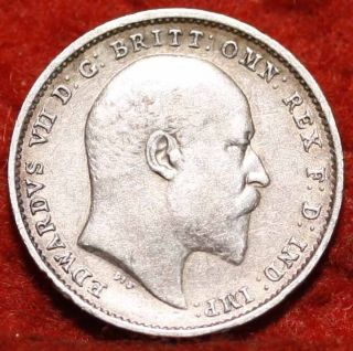 1903 Great Britain 3 Pence Silver Foreign Coin S/h photo