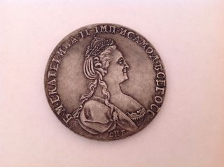 Russian Empire Coin 1 Ruble 1780 Catherine Ii photo