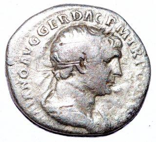 Authentic Trajan Roman Coin,  Ar Silver Denarius,  Rv.  Dacia Capta - C323 photo