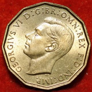 Uncirculated 1948 Great Britain 3 Pence Foreign Coin S/h photo