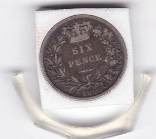 1834 King William Iv Sixpence (6d) Sterling Silver British Coin photo