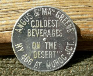 Old Muroc Junction California Boron Mojave Kramer Desert Angus Green Spin Token photo