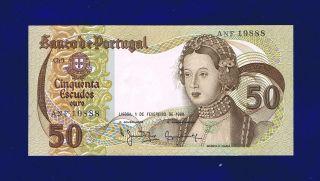 Portugal 50$00 Escudos 1980 Pic174b Unc photo