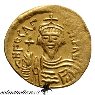 Byzantine Gold Solidus Phocas 602 - 610 Ad Victoria Avgu Constantinople photo