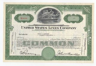 United States Lines Company Stock Certificate photo