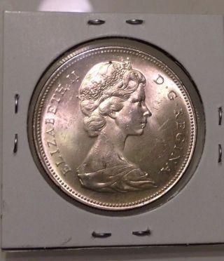 1966 Canada $1,  Silver Dollar Coin,  Vintage, photo