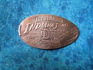 Indiana Jones Adventureland Disney 60 2 - Side Elongated Penny Pressed Smashed 21k photo