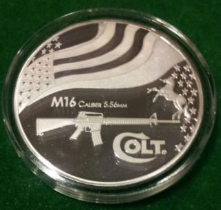 2010 M16 Caliber 5.  56mm Colt Coin photo