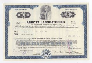 Abbott Laboratories Stock Certificate photo