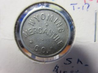 Wyoming Mercantile Co.  Aladdin Wy Gf.  05 Token Al 21mm photo
