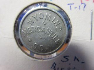 Wyoming Mercantile Co.  Aladdin Wy Gf.  05 Token Al 21mm photo