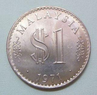 Malaysia 1 Ringgit Coin (1971) - Unc/bu photo