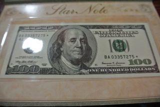 100 Dollar Star Note photo